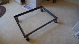 Heavy Duty Steel Frame Cart with Casters For Drill or Bandsaw
