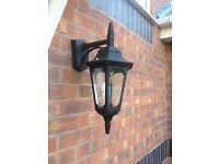 Outdoor hanging coach wall light