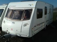 2006 luner QUASER 524/ 4 berth end changing room with fitted mover