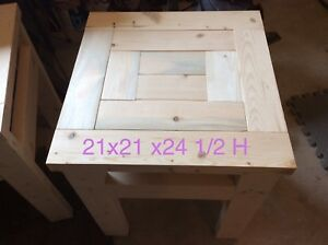 NEW - unfinished rustic end tables