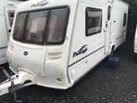 Bailey pageant Bordeaux 2006 fixed bed with motor mover touring caravan