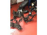Breaking Honda Dylan PS125 NES125 SH125 parts shocks forks steering seat frame