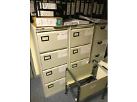 4 draw metal filing cabinets various makes