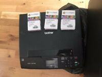 Brother DCP-J315W Printer + 3 spare cartridges - £40