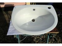IN KINGS LYNN - COOKE & LEWIS SLIMLINE WHITE CERAMIC WASH HAND BASIN