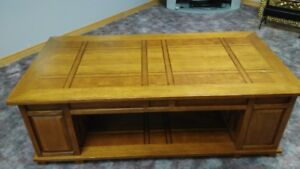 Coffee table, 2 end tables and server table