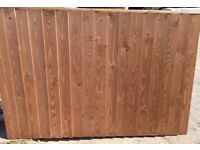 Pack of 5 heavy duty kiln dried timber treated verti lap fence panels inc local delivery