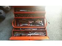 Tool box full off spanners