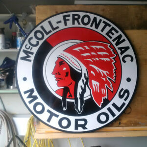 RED INDIAN - McCOLL FRONTENAC SIGN