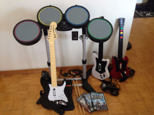 Rock Band Set + Accessories - $80 OBO