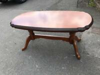 SOLID OVAL COFFEE TABLE ** FREE DELIVERY AVAILABLE **