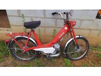 Classic French Red Motobecane - Motoconfort 49cc Mobylette - Moped. Restoration Project