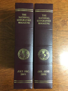 2001 National Geographic Magazines & Cases