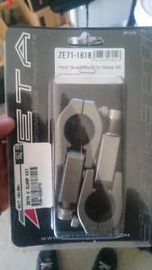"Zeta hand guard mount Straight clamp kit for 1-1/8"" bars"