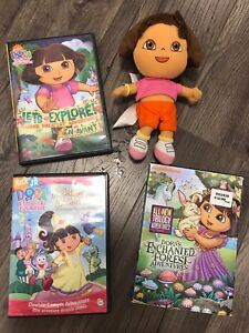 Dora DVD and Plush Doll Lot