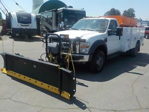 2009 Ford F-550 Diesel Regular Cab 4WD With Plow And Salt Spread