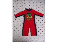 NEW Debenham's navy/red sun-safe swimsuit. UPF 40+. Age 18-24 mths. £5 ovno.