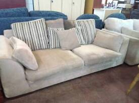 Modern 2 and 3 seater sofa set in beige fabric