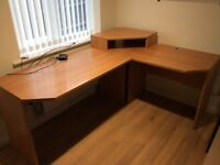 Corner work office desk