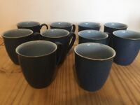 Denby Blue Jetty Mugs - first quality