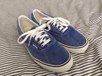 Uk size 8 Vans denim blue