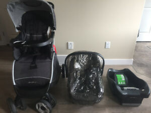 Stroller + car seat and base