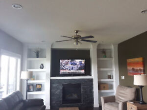 Lovely Brushed Chrome Ceiling Fan with Lights