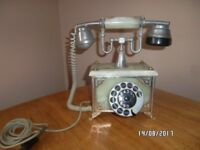 RETRO ONYX TELEPHONE 1960s / 70s FRENCH / ITALIAN TWIN BELL