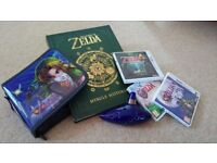 Zelda 3DS games + goodies (book, case, ocarina)