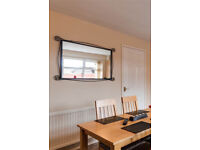 top quality expensive large black metal framed mirror as new-selling very very cheap for quick sale