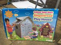 Kids colour your own cardboard playhouse new