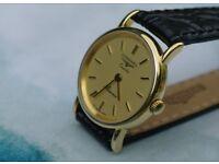 LONGINES Ladies 9ct GOLD wristwatch - like new!