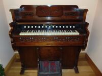 Late 1800s Loring and Blake Pump Pedal Palace Organ