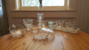 Assorted Crystal and glass