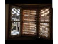 Brown wooden Venetian blinds £18 £13 £8 different sizes