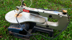 Scroll Saw, Miter Saw and Bandsaw