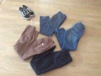 Vans size 5 men's/boys 4 x trousers/jeans age 11 yrs Next