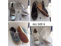 Shoes - Size 6 - See description for individual prices