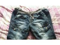 Mens Airwalk Cuffed Jeans 30R