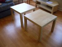 2 x small side tables