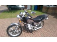 Huoniao 125-8 Motorcycle,Mint condition,never registered garaged since delivery,ideal learner bike