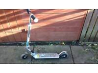 Silver folding scooter