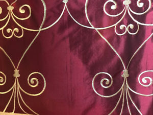 Customized curtains, rods and ends! Excellent condition!
