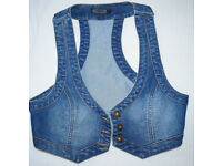 Jeans Vest Waistcoat in Size 36 from Only