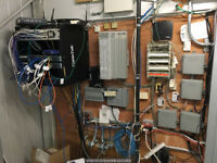 Wiring services: Data, Voice & TV cable installation.