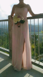Gorgeous Strapless Bridesmaid Dress in Petal, Size 6