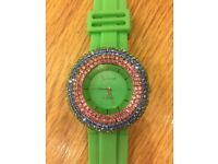 Watch with Swarovski elements