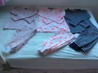 Next girls 3 pairs pyjamas age 9-10 years