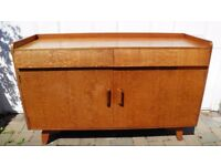 VINTAGE RETRO STYLISH TEAK SIDEBOARD 2 DRAWERS 2 CUPBOARDS STORAGE GREAT CONDITION
