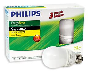 CFL Light Bulbs (14) NEW   Lampes Fluocompacte (14) NOUVEAU